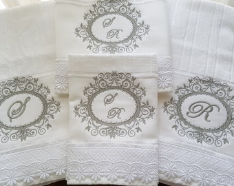 Personalized Wedding gift Towel Set