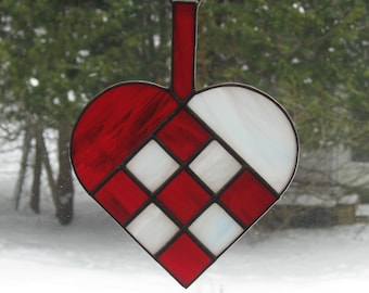 Stained Glass Danish Christmas Heart