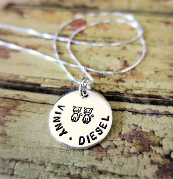 Pet Necklace | Custom Pet Necklace | Pet Names | Personalized Pet Jewelry | Pet Lover Gift | Pet Mom | Dog Jewelry | Cat Jewelry | Engraved