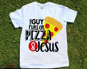 I love Pizza, boys t-shirt, trendy boys tee, jesus shirt, kids shirt, pizza and jesus, toddler tshirt, vinyl, boys clothes, funny shirt