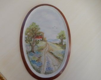 HAND PAINTED PORCELAIN Picture