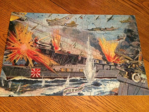 Vintage battle of midway picture puzzle1942 puzzle world war gumiabroncs Gallery