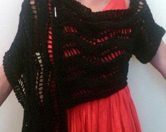 ZIGGY - a one sleeved summer shawl PDF Knitting Pattern