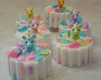 Unicorn Soaps - Unicorn Birthday Party - Unicorn Party Favors - Girls Soap - Toy Soap - Pony Soap - Novelty Kids Soap - Stocking Stuffers