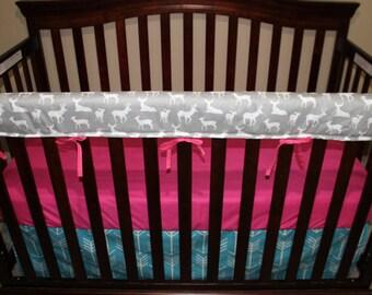 Crib Sheet -Fuschia Cotton Sheet
