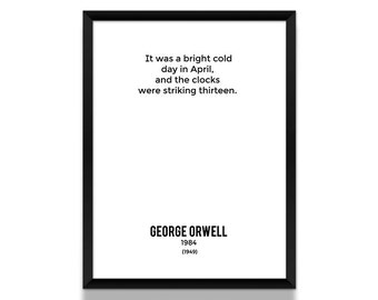 1984 Poster, Art Print, Literary Gifts, Bookish, Gift for Her, Minimalist Poster, Wall Art Prints, Wall Decor, Book Lover Gift