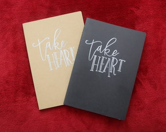 Take Heart Handlettered Journal