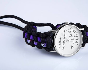 I'm Late Anyway Paracord Watch