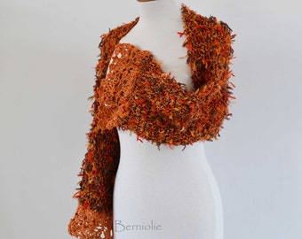 Crochet shrug, Burned orange, I971