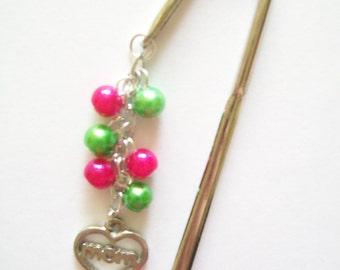 Mother's Day Bookmark - Beaded Shepherd's Hook