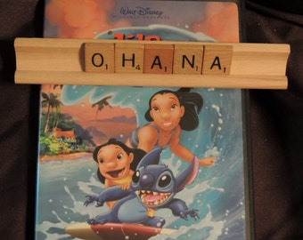 OHANA scrabble letters sign Recycled