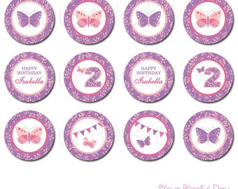 PRINTABLE Enchanted Butterfly Party Circles (Personalized) #526