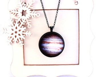 Jupiter Planet Necklace Science Jewelry