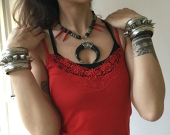 Boho chic necklace / boho style / tribal fusion / vikings / necklace / burning man / ethnic