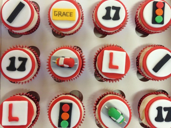 Learner Driver Cupcake Toppers fondant cupcake toppers uk