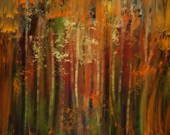Abstract Autumn Woods