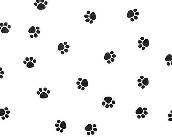 Dog Biscuit Bags, Paw Print Cellophane Bags & Twist Ties, Puppy Party Favor Bags,Paw Print Favor Bags, Paw Print Goodie Bags, Sweet Bags