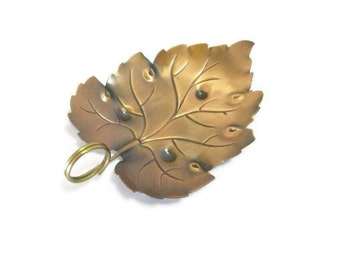 Vintage Copper Leaf Shaped Tray by Coppercraft Guild
