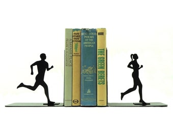 Running Couple Bookends