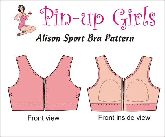 The alison front closing sport and activity bra pattern by pin up the alison front closing sport and activity bra pattern by pin up girls from bramakingsupplies on etsy studio thecheapjerseys Gallery