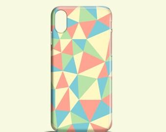 Pastel Kaleidoscope phone case, Bright iPhone X case, pastel iPhone 8, iPhone 7, iPhone 6S, 6, SE, 5S, Samsung Galaxy S7, S6, S6 Edge, S5