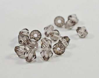 Taupe glass bicone beads, 5mm #1500