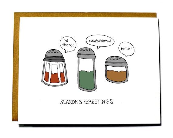 Items similar to funny christmas card pun seasons greetings on etsy m4hsunfo
