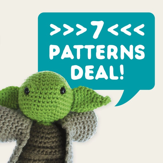 7 Patterns Deal. Special Offer, Discount Price, Set of 7. Amigurumi Pattern PDF.