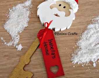 Personalised Santa's Magic Key  Wooden Christmas Eve Box Filler - Father Christmas Key