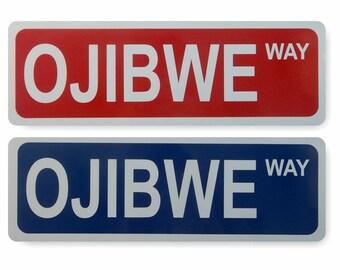 Custom Name Metal Street Sign