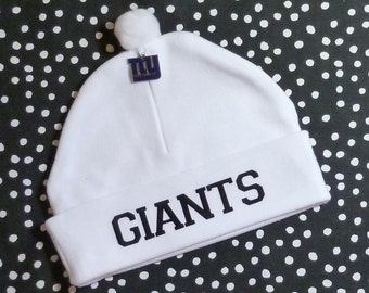 Newborn Baby Hat for the New York Giants Fan Infant Cap NY Charm Beanie