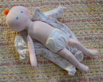 "PDF Sewing Pattern Cloth Baby Doll  18"" preemie size  WhimsyBabe       sp0314"
