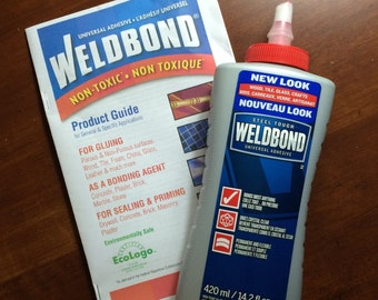 14.2 oz  Weldbond Adhesive - Glues / Seals Bails, Mosaic Tile - Clear Drying Bonding Agent