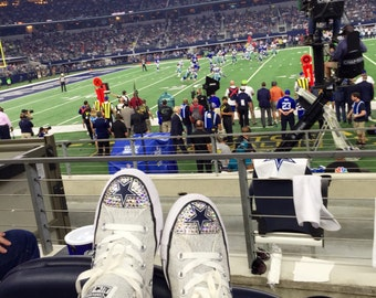 f0c388b65416 Adult size mouse bling converse. Dallas Cowboys Swarovski Crystal Blinged  Converse Shoes - FREE SHIPPING