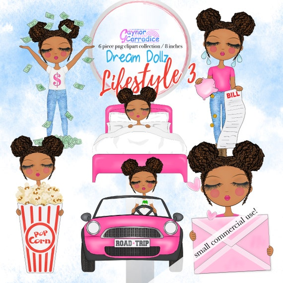 Girl clipart african american pigtails clip art planner icons like this item voltagebd Image collections