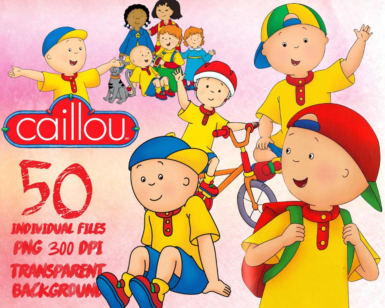 Caillou Clipart PNG transparent-300dpi-party-printable