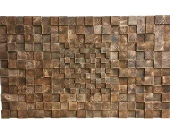 Rustic Wooden Wall Art - Mosaic Art - Natural - Reclaimed - Home Decor