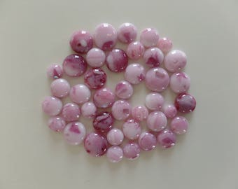Pretty Pink Fused Glass Cabochons