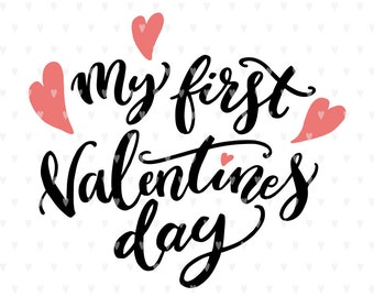Valentines Svg File Happy Valentines Day Love Svg Hand