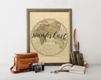 Wanderlust, Wanderlust print, Wanderlust art, Travel art, Travel poster, Adventure print, Adventure, Wanderlust poster, Outdoor decor, BD226