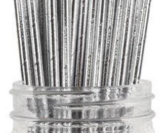 Twee dozijn Metallic zilver papier drinken rietjes - Hollywood - Glam - Bling - bruiloft--Verjaardag - feest & Party Supplies