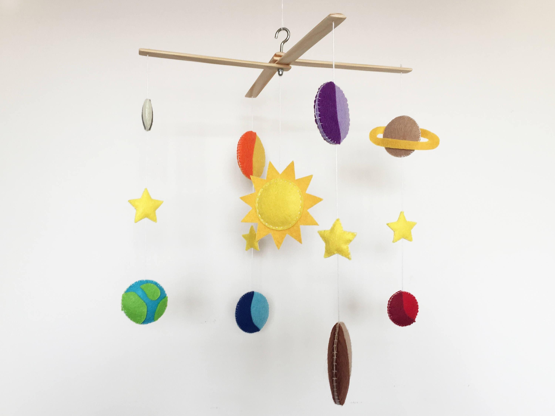 Sonnensystem Baby mobile Krippe Platz Thema Schlafzimmer