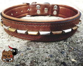Bully Industries Old Rustic Leather Dog Collar