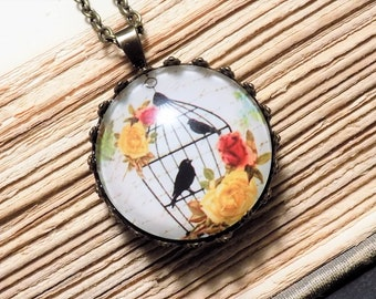 Vintage Inspired Birdcage Pendant