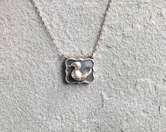 Sterling Silver Picture Pendant - Duck
