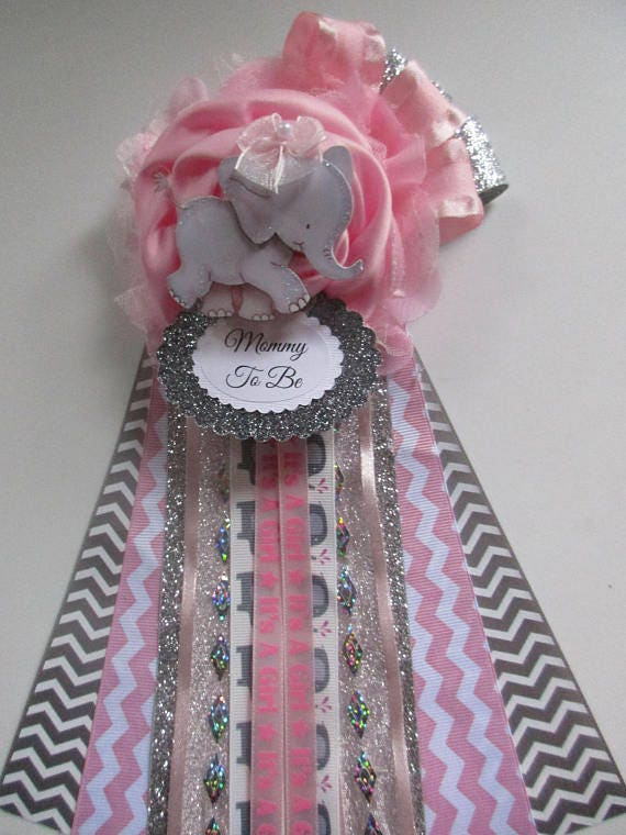 Elephant Mommy To Be Baby Shower Corsage, Baby Girl Shower Corsage, Pink Baby  Shower Corsage, Baby Girl Shower Corsage,Corsage For Baby Girl