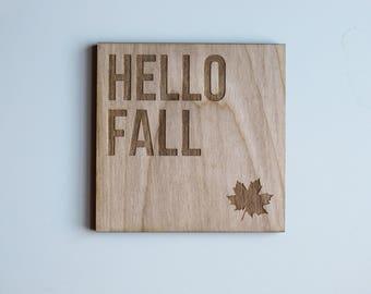 Hello Fall Coaster Set