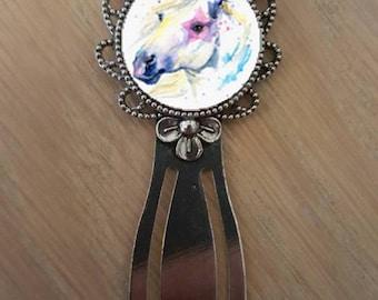 """Bookmark """"watercolor of a Unicorn"""""""