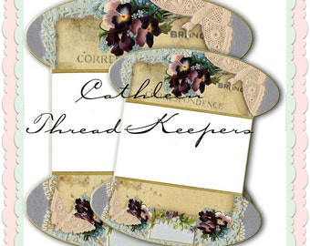 Cathleen /Lace or thread Keepers graphics instant digital download