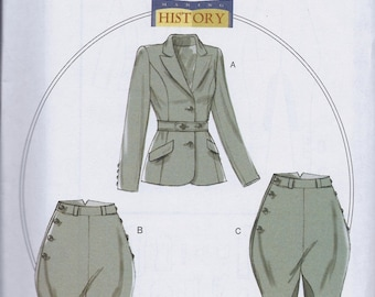 Butterick 6433 Misses Women's Edwardian Sportman's Suit Jodphurs Jacket UNCUT Sewing Pattern